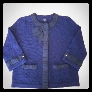 Ann Taylor Cropped Blue Sweater XS